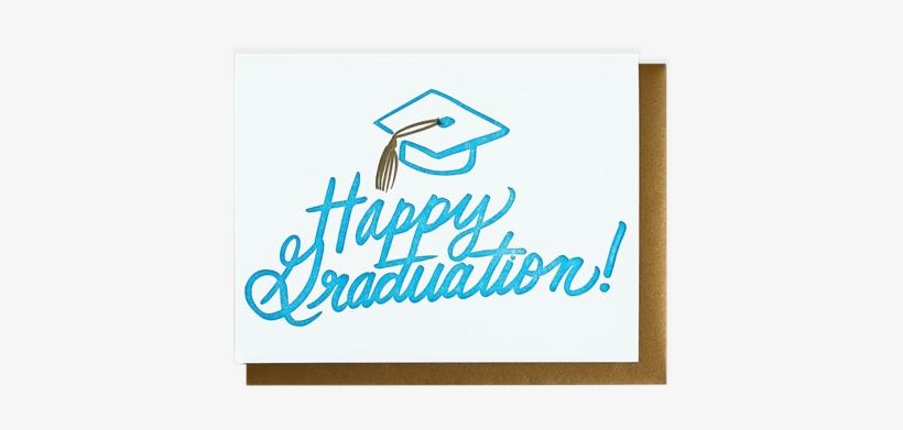 Happy Graduation Cap Card - 450x510 PNG Download - PNGkit