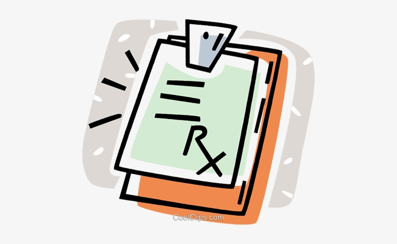 Clipboard With A Doctor's Prescription Royalty Free - Doctor's Prescription Clipart - 480x425 PNG Download - PNGkit
