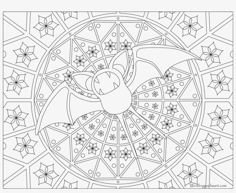 041 Zubat Pokemon Coloring Page Mandalas Pokemon Para Pintar