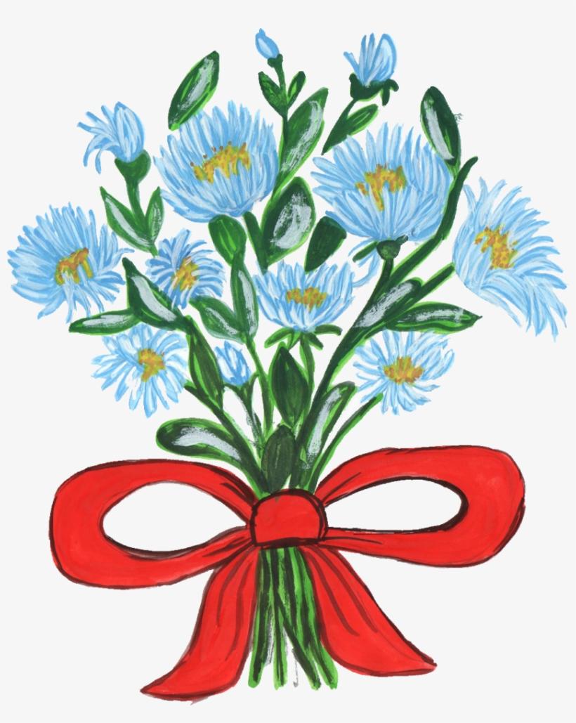 Art Nouveau Bouquet Flowers Transpa Png 10 Flower Bouquet 849x1024 Png Download Pngkit