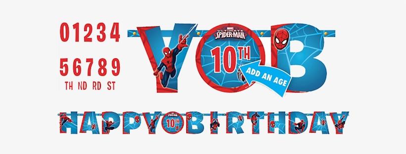 Spiderman Happy Birthday Banner Spider Man Happy Birthday Png