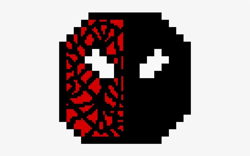 Spudder Man And Venom Deadpool Face Pixel Art 1200x1200