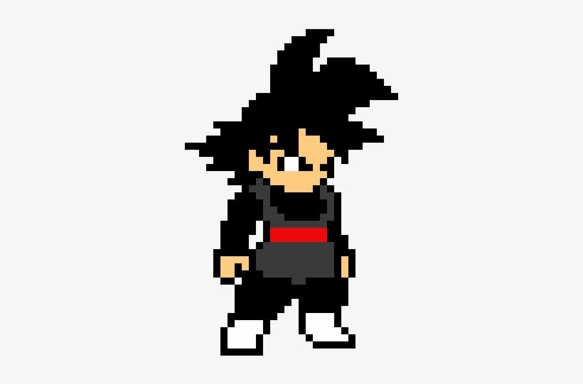 8bit Black Goku Pixel Art Dragon Ball 420x530 Png