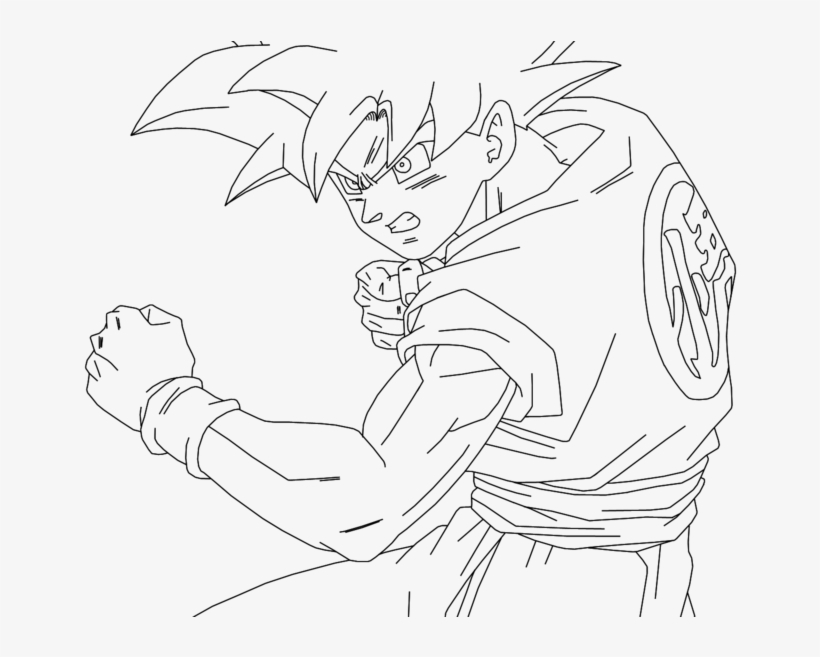 Dragon Ball Z Goku Super Saiyan Coloring Pages Best Dragon Pages adult | 657x820