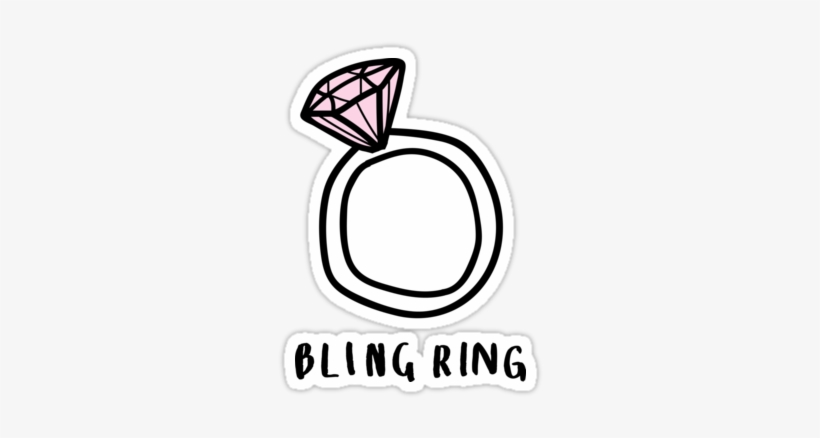 Quot Bling Ring Trendy Hipster Tumblr Meme Quot Stickers 375x360