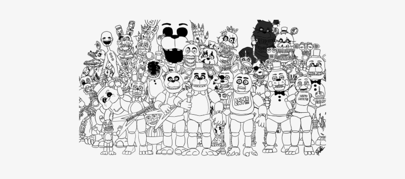 sister location five nights at freddy\'s coloring pages | Print Family Five Nights At Freddys Fnaf 2 Coloring ...
