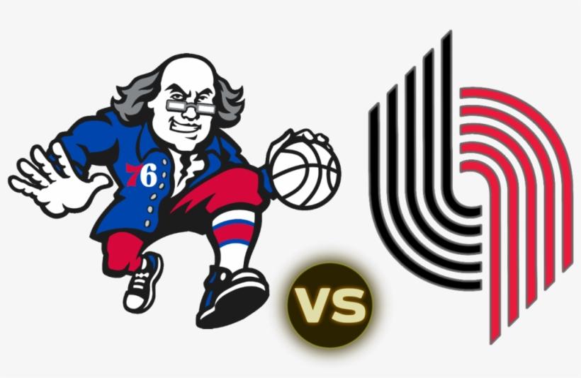 The Sixers Ben Franklin Logo Philadelphia 76ers Logo 1024x622 Png Download Pngkit