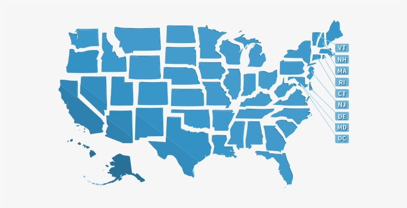 Usa State Map Png - United State Map Stencil - 610x373 PNG Download ...