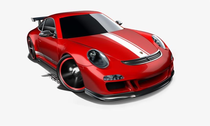 Porsche 911 Gt3 Red W White Stripes - Fast Car - 671x503 PNG