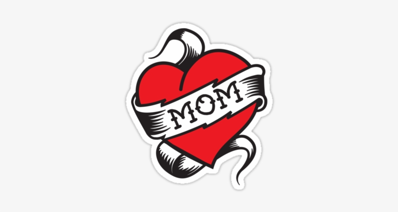 I Love Mom Heart Tattoo Png Mom Tattoo Png 375x360 Png Download Pngkit
