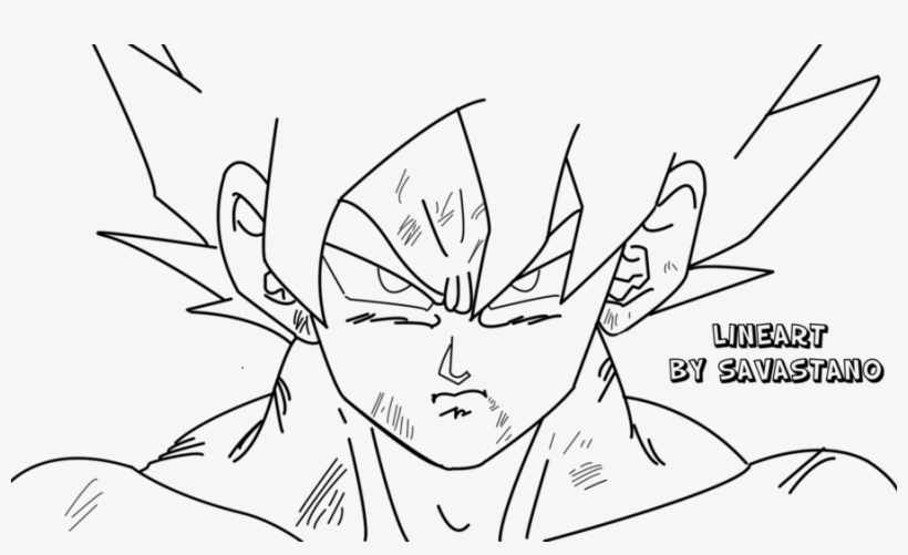 28 Collection Of Goku Super Saiyan Drawing Ssj Goku Easy