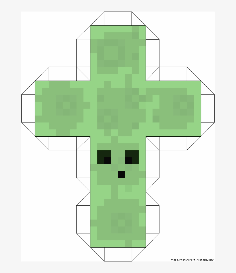 Mob Slime Template Size3 Minecraft Papercraft 672x865 Png