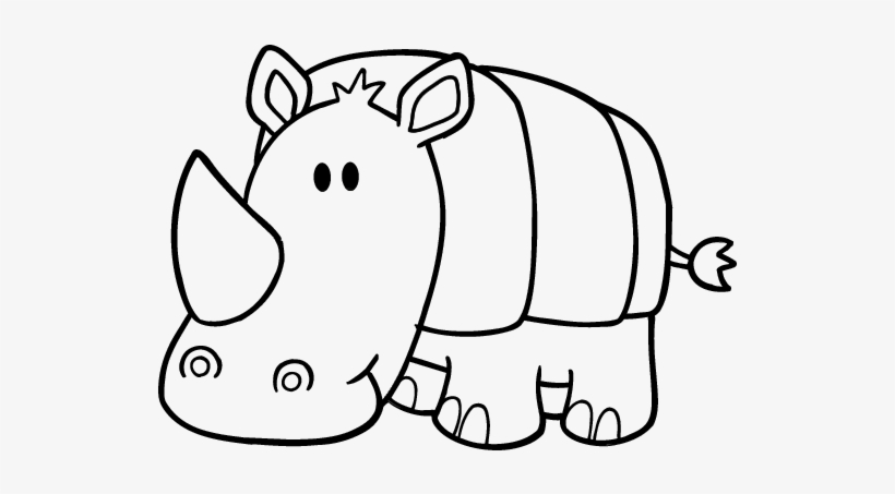 Woolly Rhinoceros Coloring Page - Get Coloring Pages | 453x820