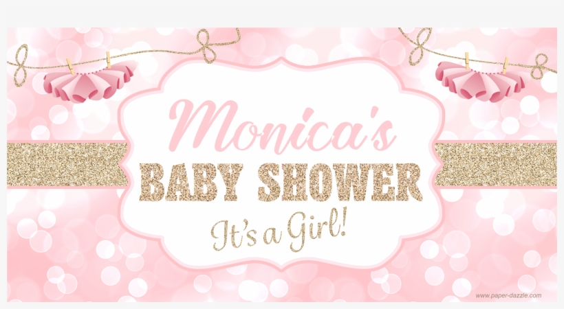 Tutu Sparkle Baby Shower Banner Pink Baby Shower Banner Png 3600x3600 Png Download Pngkit