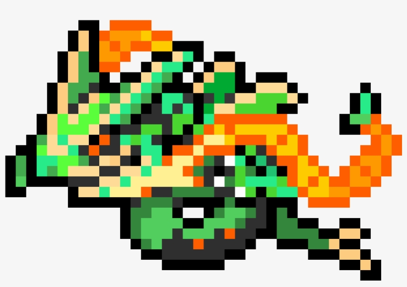 Mega Rayquaza Mega Rayquaza Pixel Art 1160x790 Png