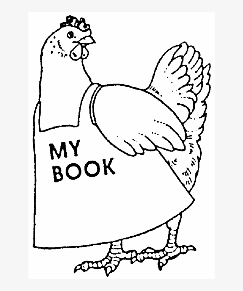 Zoom Chicken 'my Book' Rubber Stamp - Little Red Hen Coloring