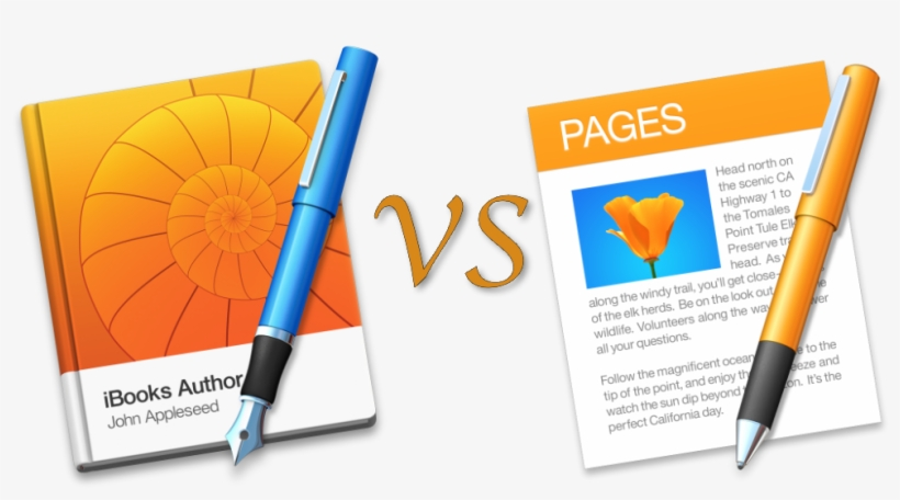 Ibooks Author And Pages Logos - Logo Pages Mac Os - 1000x500