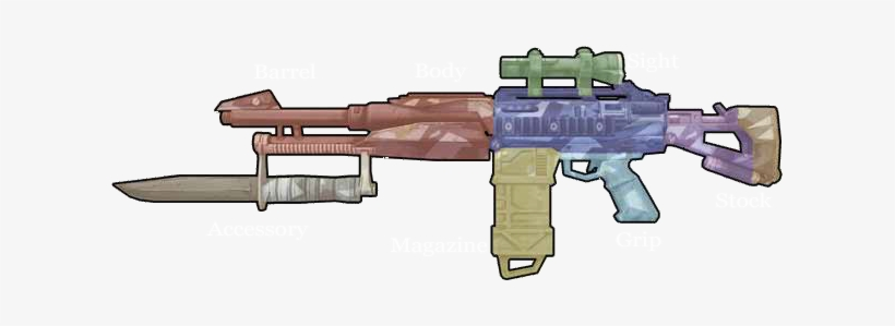 Weapon Components - Borderlands 2 Weapons Png - 619x219 PNG