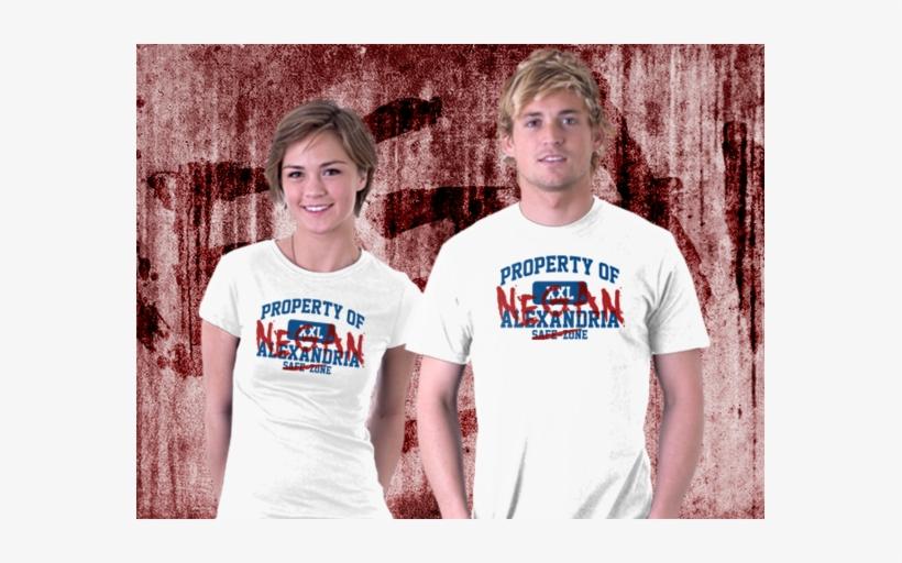 91eaf839 Property Of Negan - Walking Dead Alexandria Letters T-shirts Men Digital