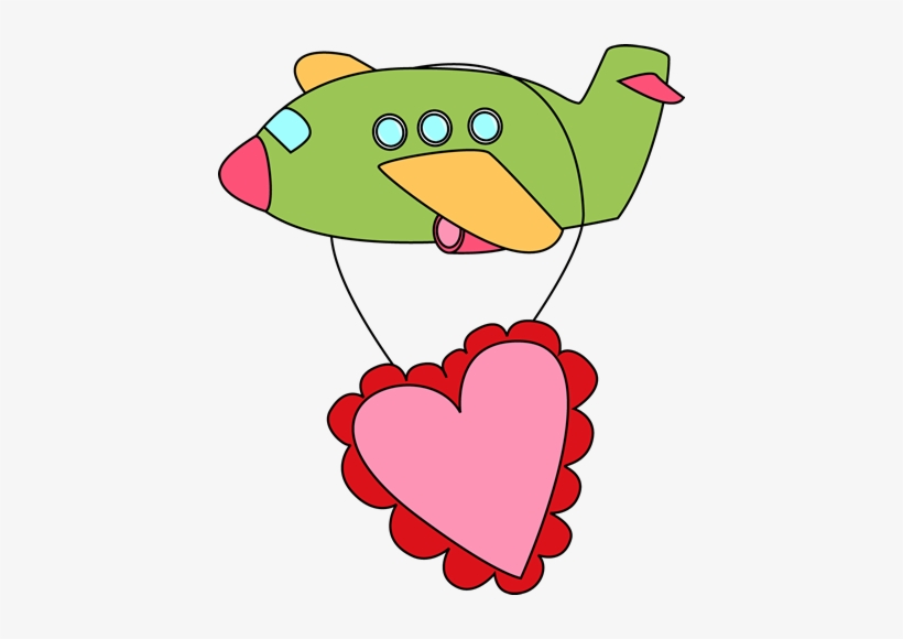 Cute Airplane Clipart Boy Valentine Clip Art 424x500 Png