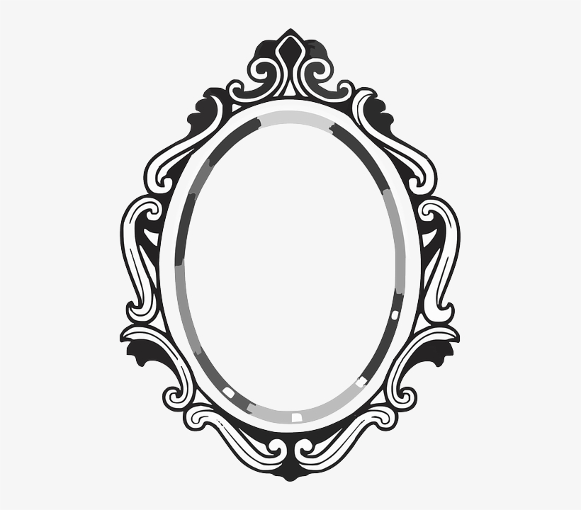 Line Drawing Mirror Frame Mirror Clipart 481x640 Png Download Pngkit