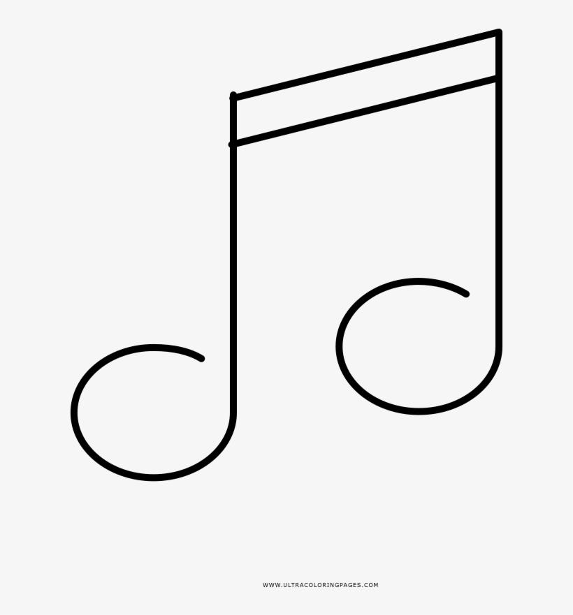 Notas Musicais Desenho Para Colorir Line Art 1000x1000 Png