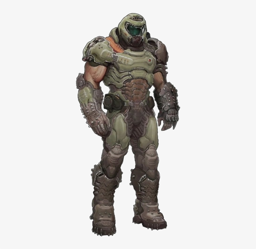 The Doom Slayer Doomguy No Background 349x715 Png Download