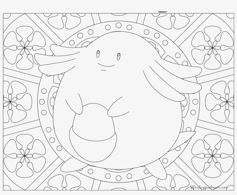 Chansey Mandala Coloring Pages Pokemon Mew 3300x2550 Png Download Pngkit