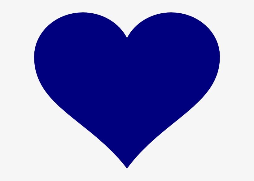 Navy Heart Clip Art At Clker - Transparent Background Blue ...