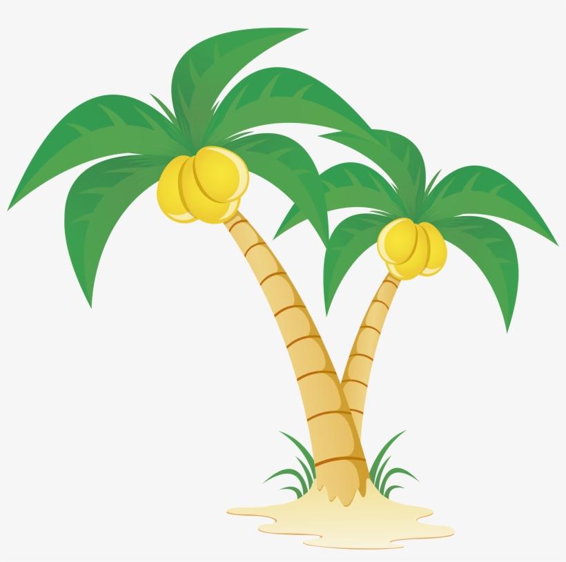 Arecaceae Tree Clip Art Coconut Tree Vector Png 5135x4853 Png