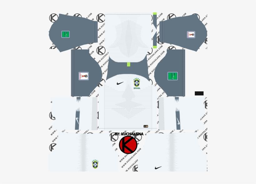 024044aeff4 Brazil 2018 World Cup Kit - Dream League Soccer Kits England 2018 ...
