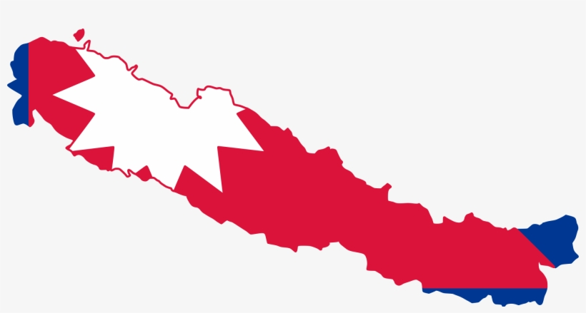 Open - Nepal Flag And Map - 2000x975 PNG Download - PNGkit