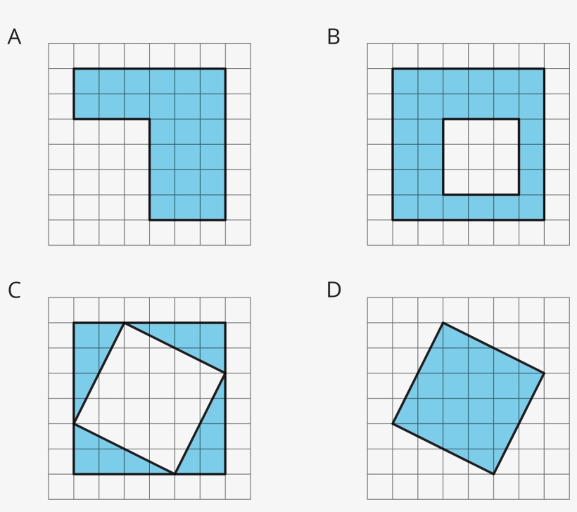 Four Figures, Each On A White Square Grid - Parallel