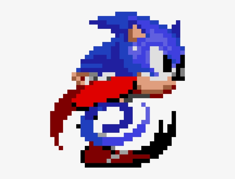 Sonic The Hedgehog Class 8 Bit Sonic Running 500x576 Png Download Pngkit