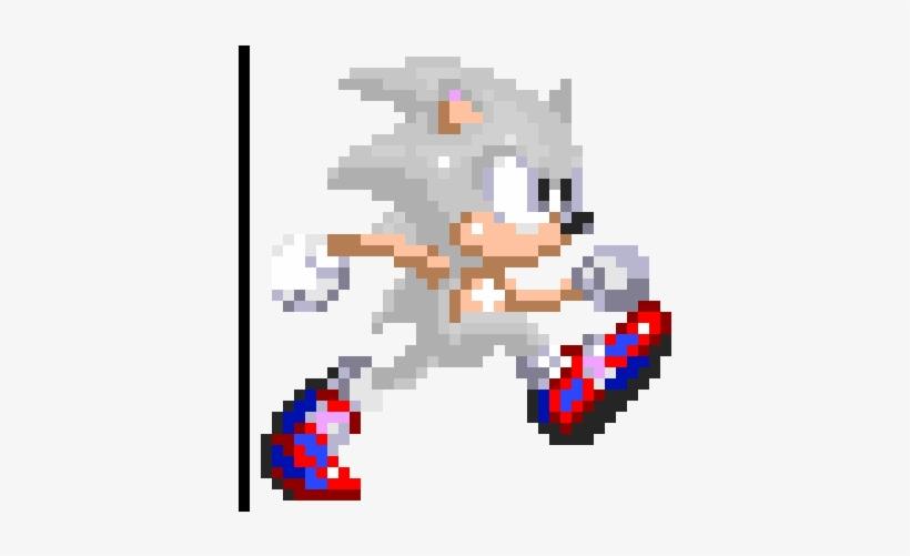 Mui Sonic Running Sprite - Pixel Art Maker Com Sonic Running