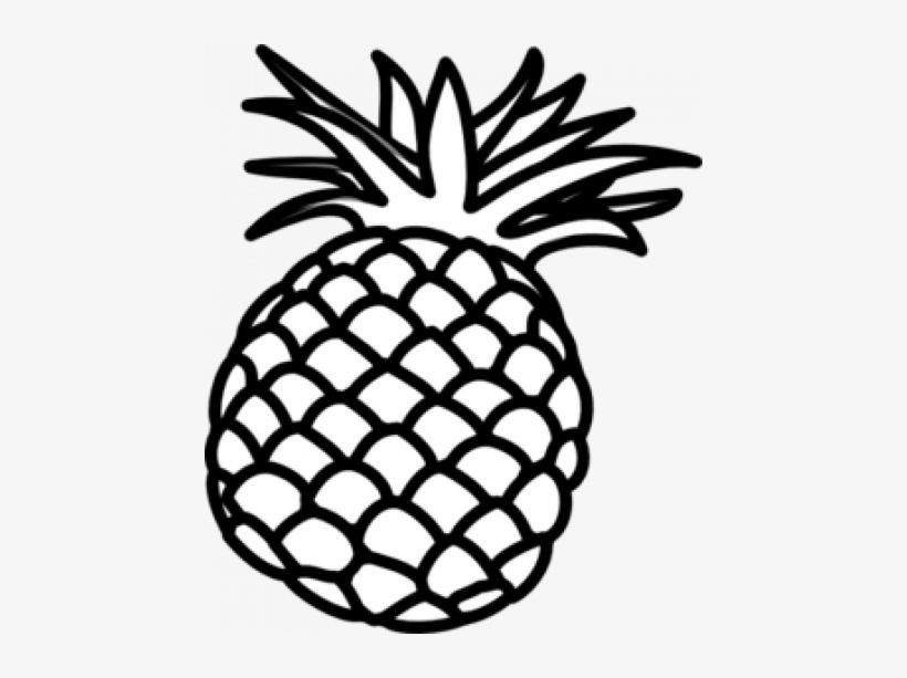 Pineapple Clipart - Pineapple Clipart Black And White ...