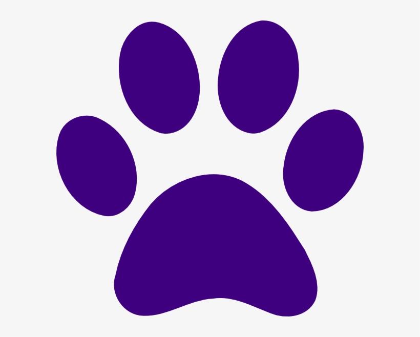 Cougar Paw Print Clip Art Clipart - Purple Paw Print - 600x578 PNG Download  - PNGkit