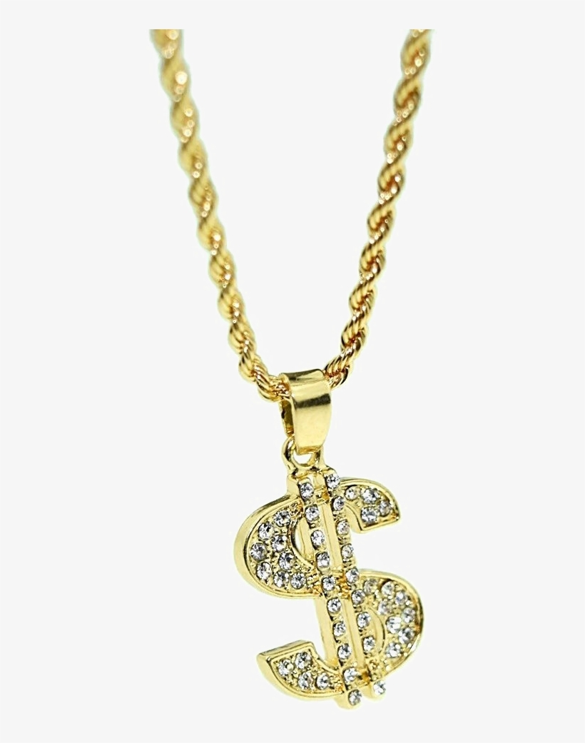 Dollar Chain Png - Gold Dollar Chain Png - 1000x1000 PNG