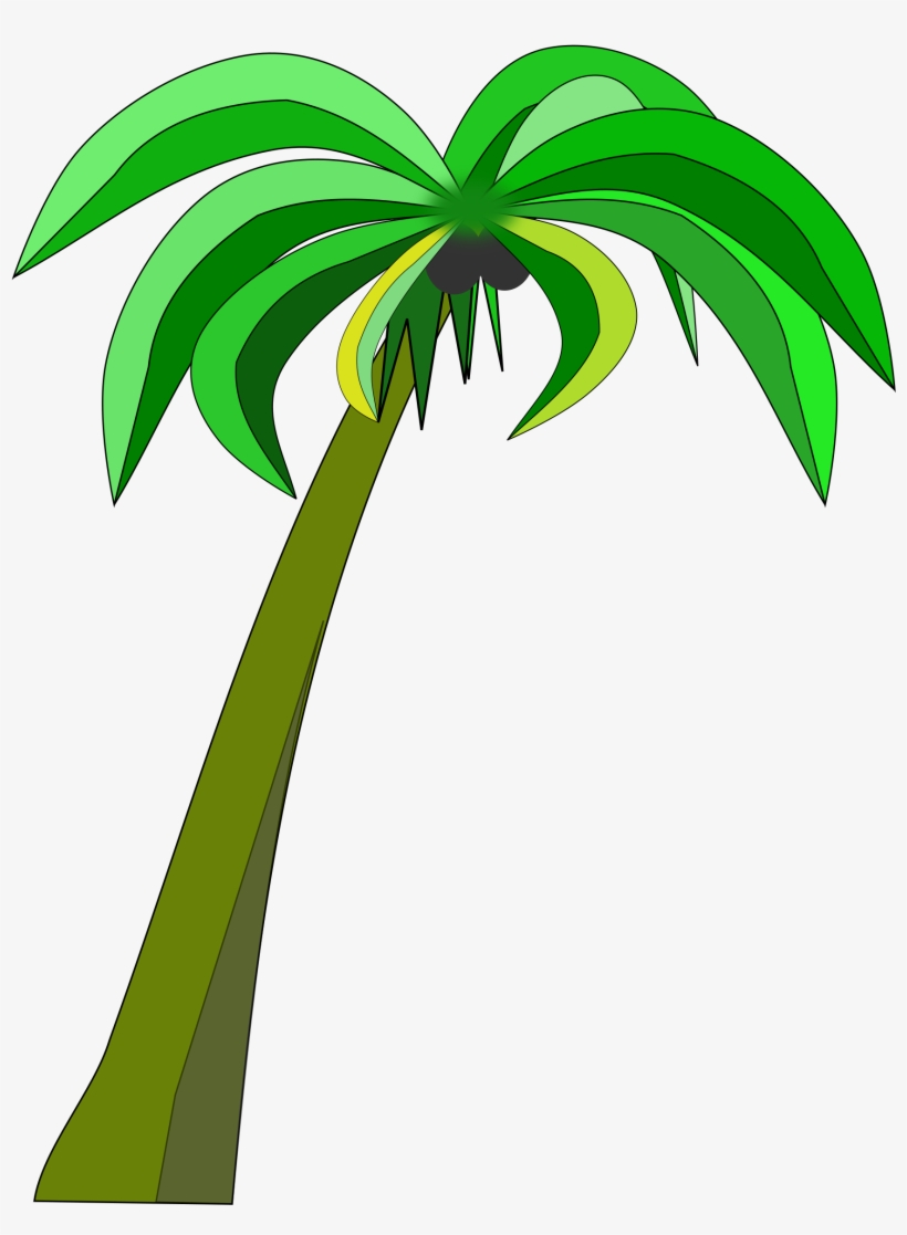 Palm Or Coconut Tree Clipart Black And White Download Coconut Palm