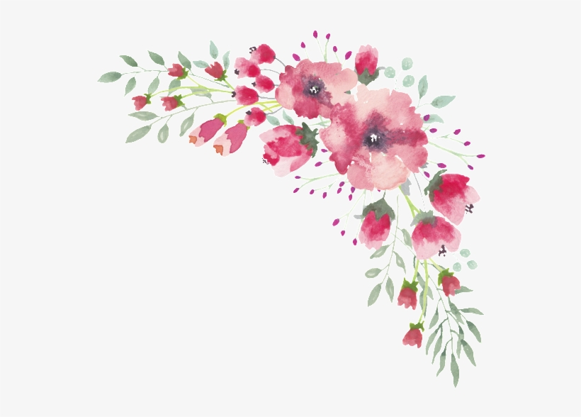 Watercolor Floral Border Transparent Best Menu Template Design