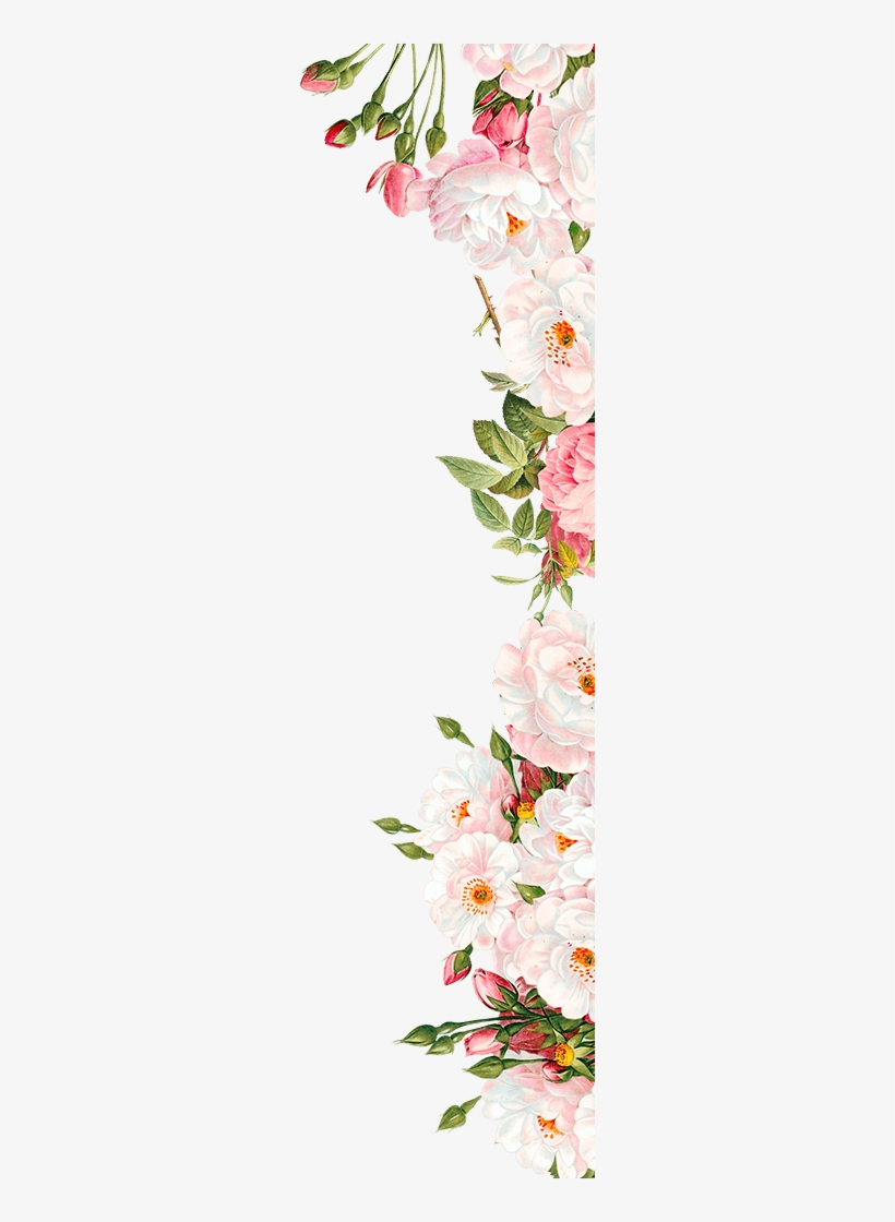 Free Flowers Border Png Image Wedding Invitation Flowers Png