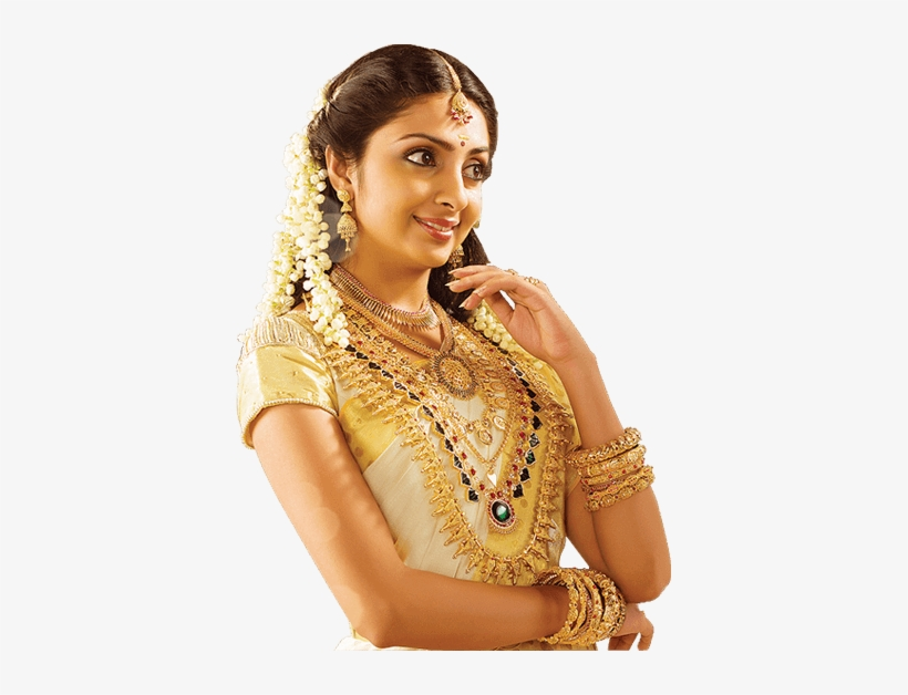 South Indian Bridal Jewellery Gajra Hairstyle Open Hair 393x548 Png Download Pngkit