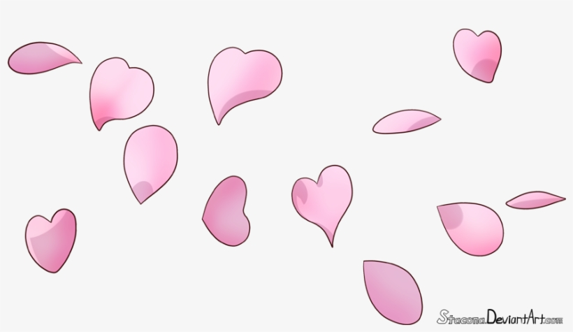 Cherry Blossom Petals By Stacona Draw Cherry Blossom Petals 875x465 Png Download Pngkit