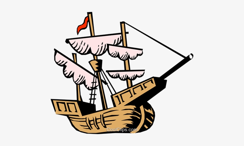 Christopher Columbus Ship Royalty Free Vector Clip Happy Columbus Day Clip Art 480x411 Png Download Pngkit