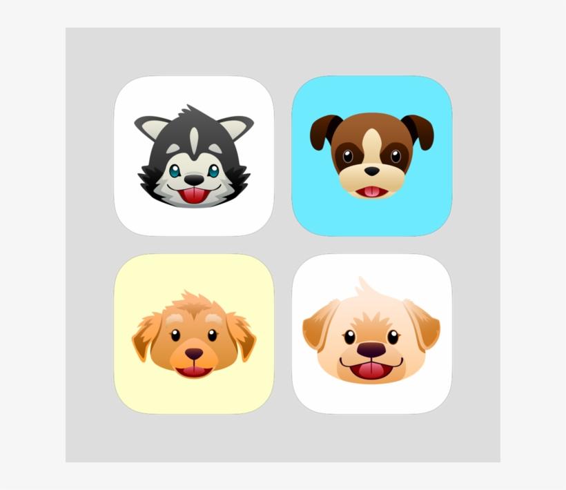 Dog Emoji Stickers Bundle 1 For Imessage On The App - Sticker