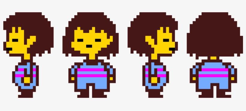 Frisk Sprite Sheet No Walking Sprites Pixel Art Maker - Undertale