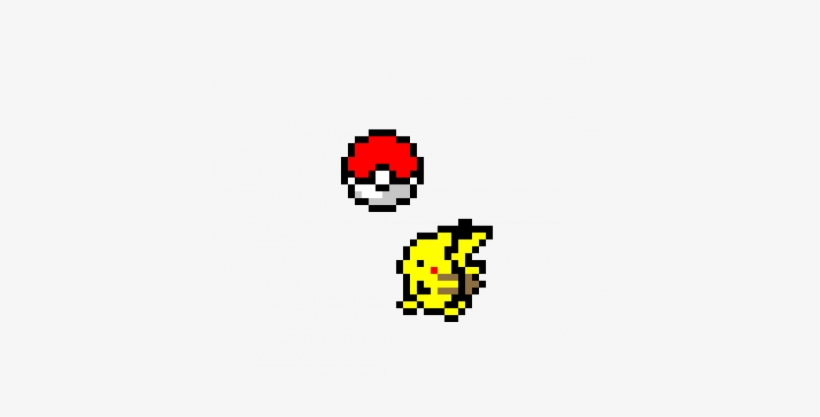 Pikachu And Pokeball Pixel Art Post It Note Pokemon