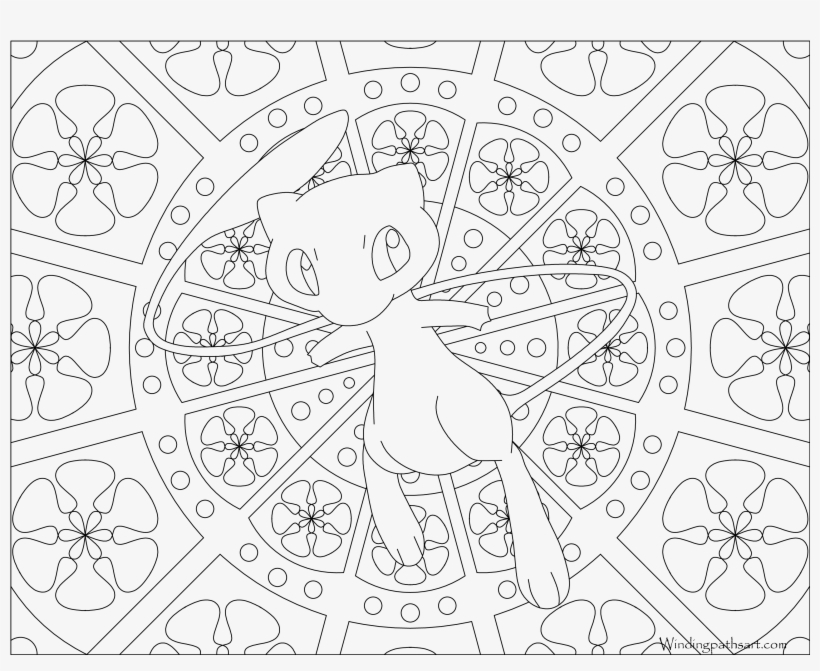 Mew Pokemon Printables Pictures Png Mew Pokemon Printables Mandala Coloring Pages Pokemon Mew 3300x2550 Png Download Pngkit