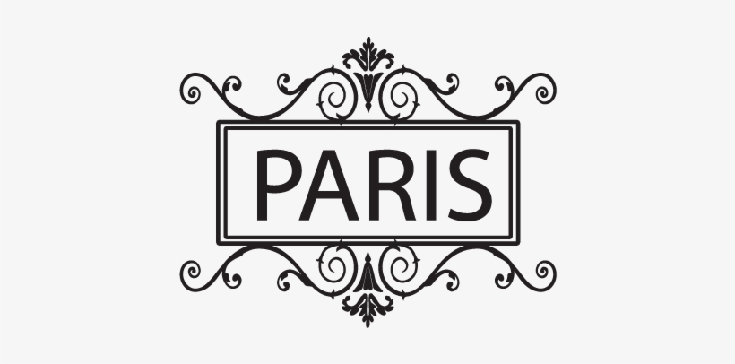 Paris & Ornate Frame Wall Quotes™ Decal - Paris Coloring Pages Printable -  451x451 PNG Download - PNGkit