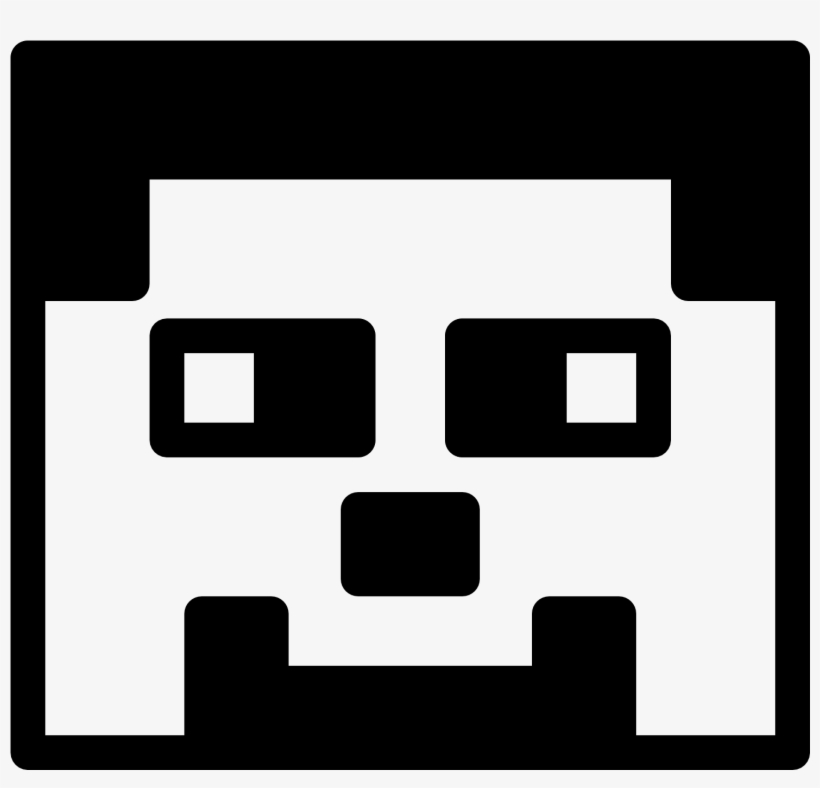 Minecraft Clipart Black And White Minecraft Svg Black And White 1600x1600 Png Download Pngkit